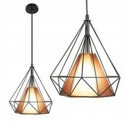 LAMPA DIAMENT MIEDZIANY KLOSZ E27