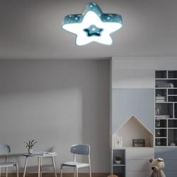LAMPA DZIECIĘCA LED SUFIT NIEBIESKA GWIAZDKA 36W + PILOT