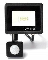 Naświetlacz LED 10W z czujnikiem ruchu halogen barwa biała neutralna